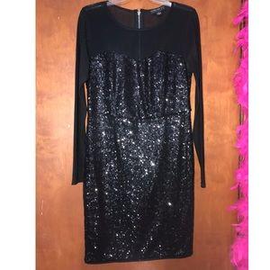 XL Black sequence dress